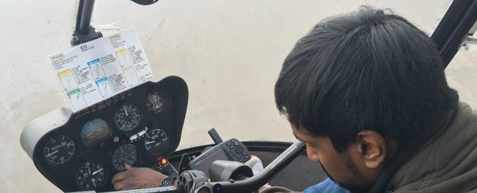 Arbeiten im Cockpit