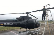 Auch Hubschrauber müssen zum Friseur