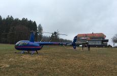 Ausflug mit dem Helikopter
