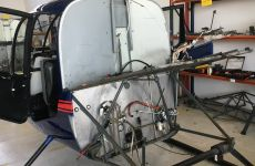 Grundüberholung - Ein Hubschrauber in Einzelteilen