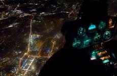 Nachtflug und simulierter Ausfall der Navigationshilfen