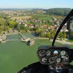 Rundflug für eine Person, hier über die Pfahlbauten in Uhldingen