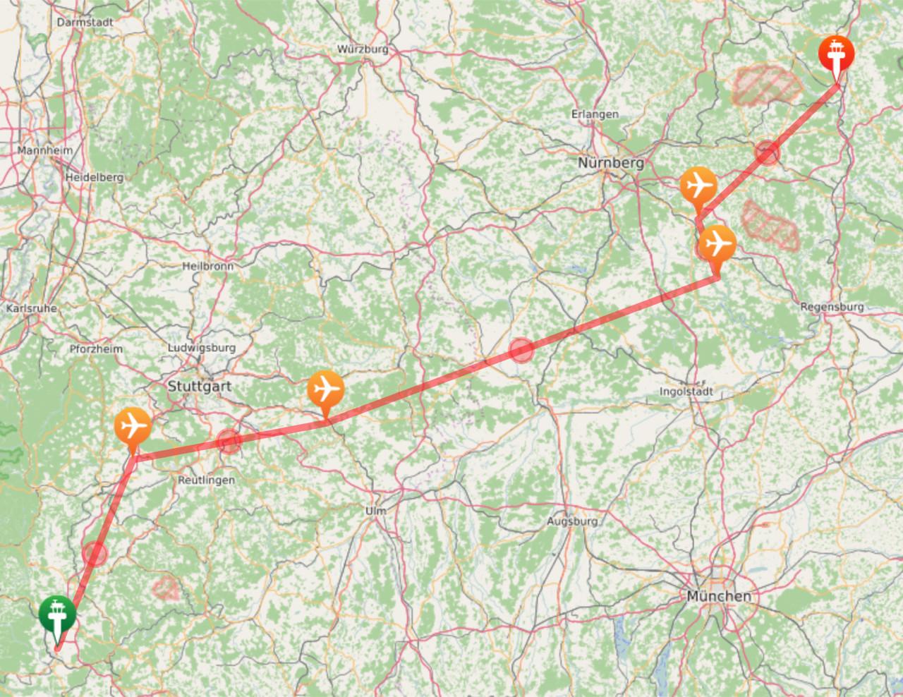 Tatsaechliche Route
