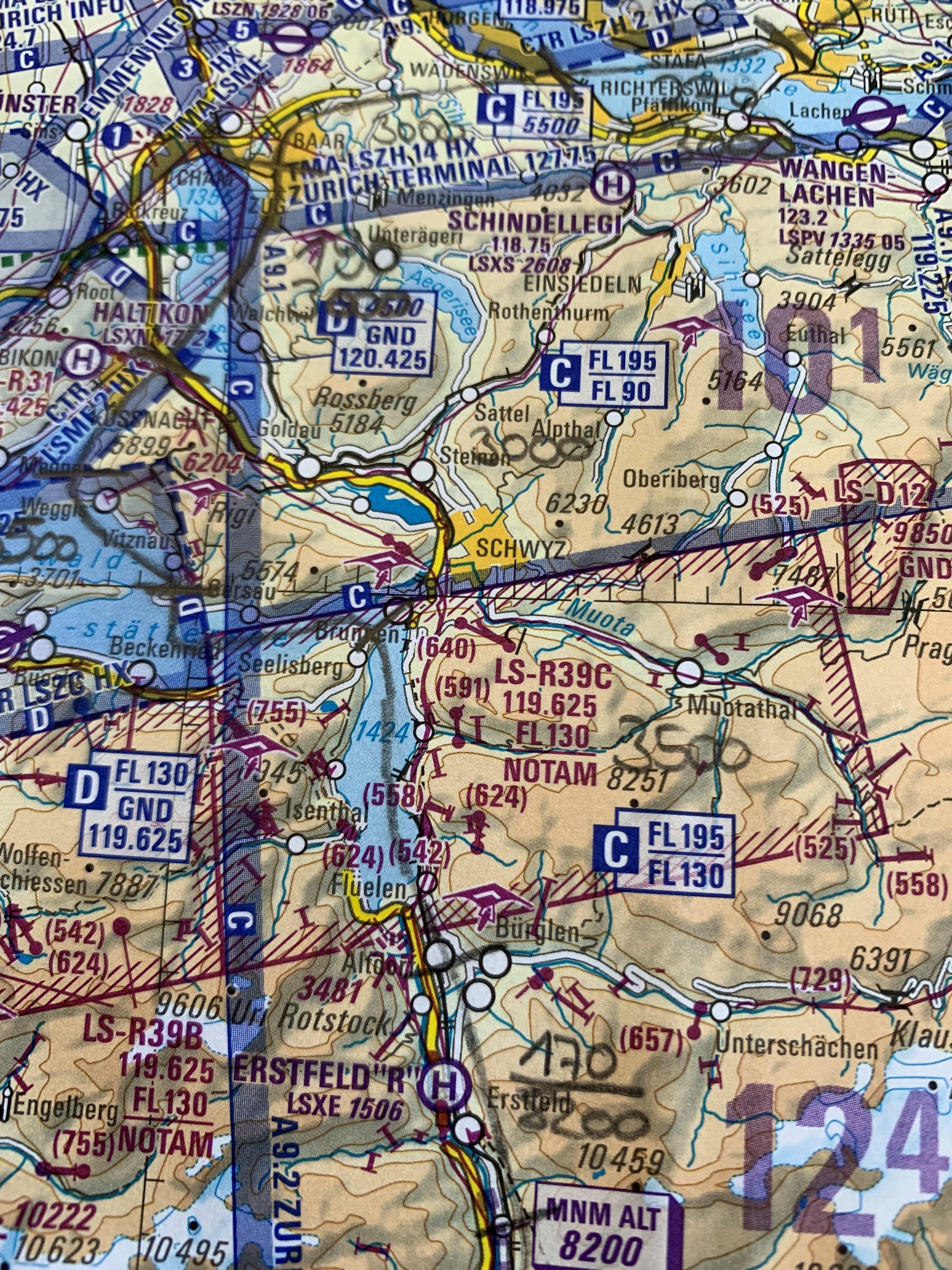 Luftfahrtkarte