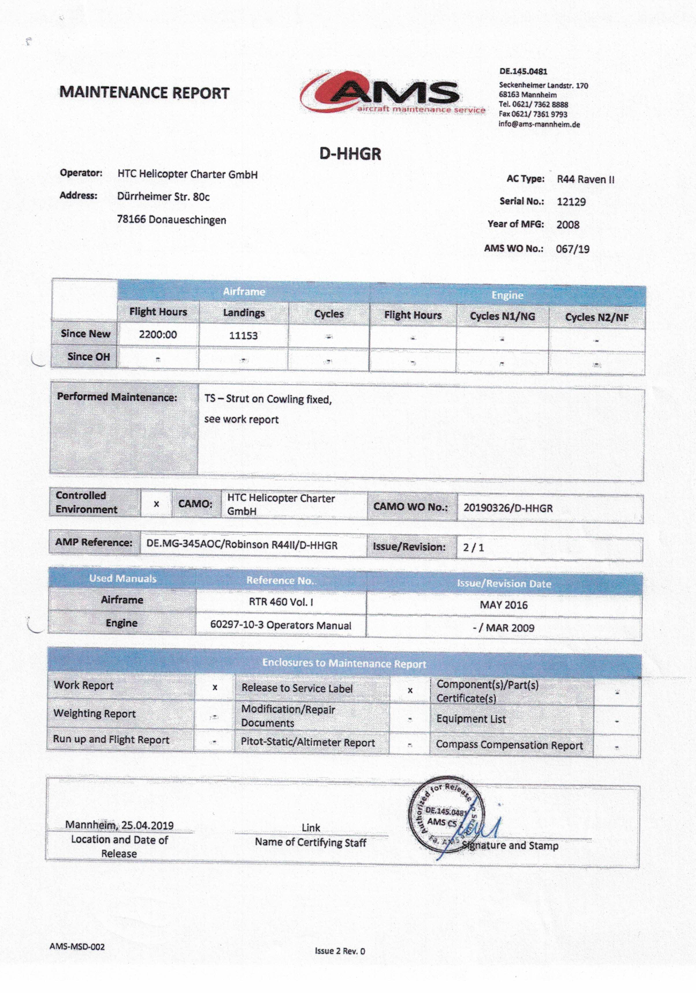 Work Report AMS Werft 2