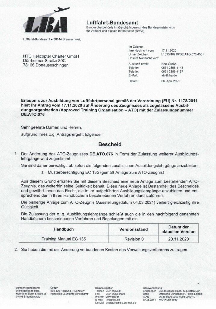 Genehmigung Musterberechtigung EC 135_Seite_1